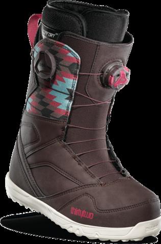 Ботинки для сноуборда жен. Thirtytwo Stw Double Boa W'S '20 - brown