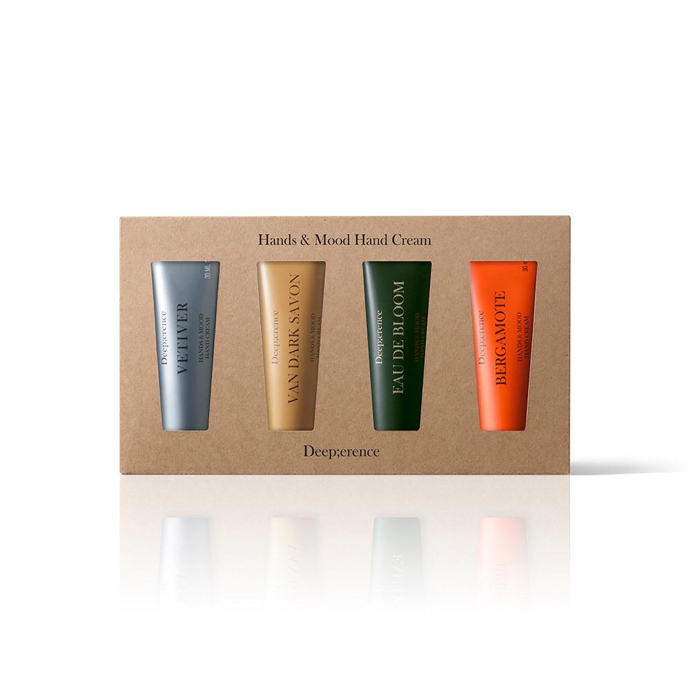 Набор кремов для рук Deep;erence Hands & Mood Hand Cream 4 kit 4*30 мл