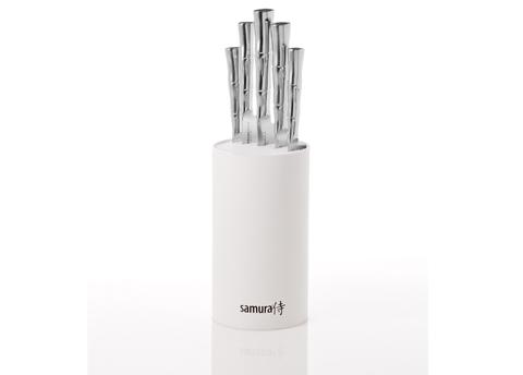 Набор из 5-ти ножей с подставкой 22,5 см. Samura BAMBOO арт. SKB-06W