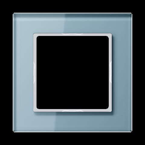Рамка на 1 пост. Цвет Серо-голубой. JUNG A CREATION. AC581GLBLGR