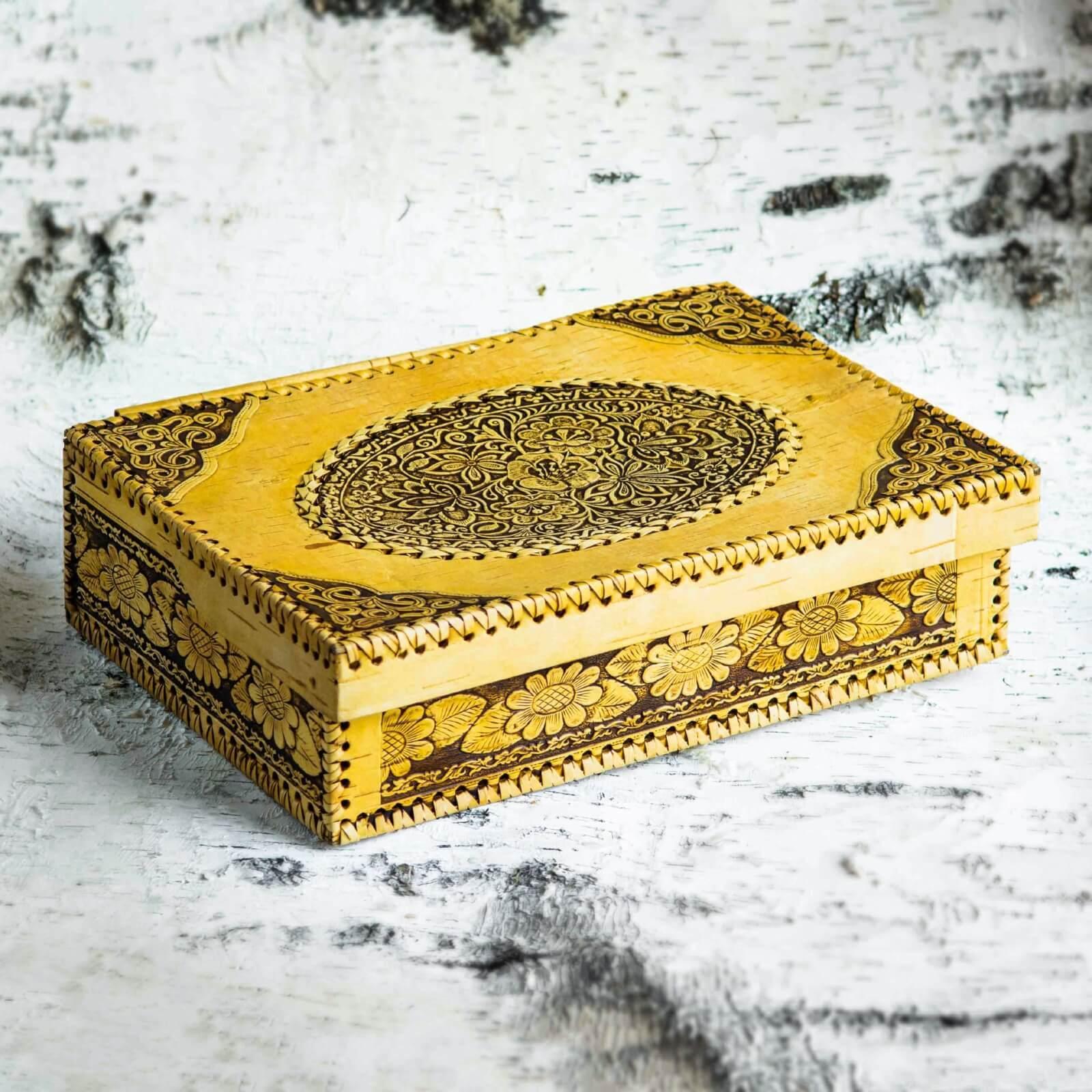 Шкатулка большая прямоугольная в форме книги