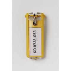 Набор брелков на ключи Durable Key Clip желтые (6 штук)