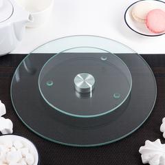 Столик поворотный стеклянный для торта D30 H3 см, оптом 5 шт.