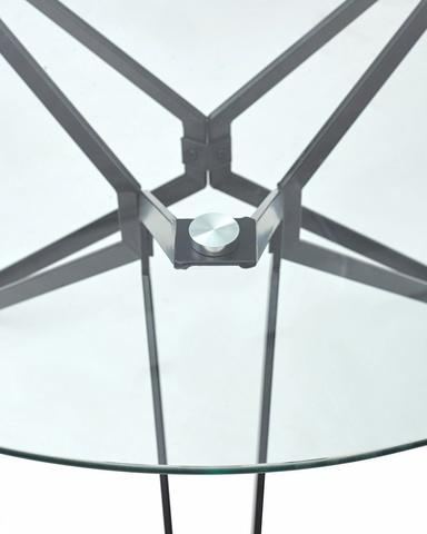 Стол VENETO D110 прозрачный М-City (обеденный, кухонный, для гостиной), Материал каркаса: Металл, Цвет каркаса: Чёрный, Материал столешницы: Стекло закаленное, Цвет столешницы: Прозрачный, Цвет: Черный
