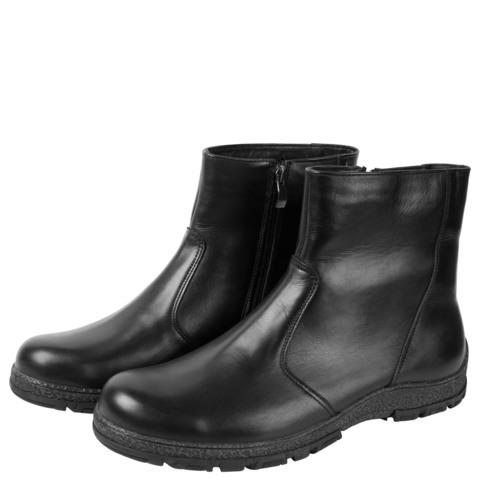 682516 Сапоги мужские черные кожа. КупиРазмер — обувь больших размеров марки Делфино