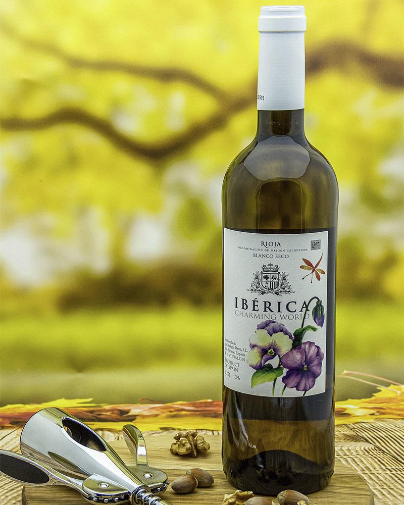 Вино Iberica Чарминг Ворлд Белое Сухое 13% 0,75 л.