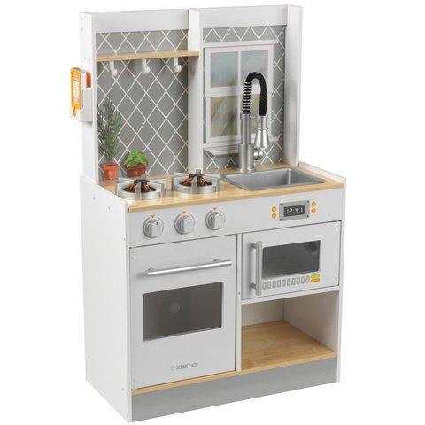 KidKraft Давай готовить серая - детская интерактивная кухня 53395_KE