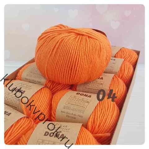 FIBRA NATURA DONA 106-04, Оранжевый