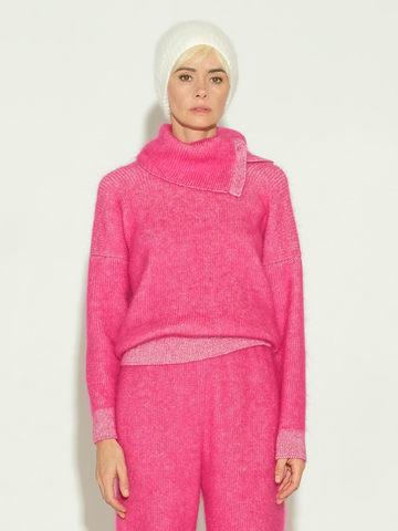 Женский свитер розового цвета из мохера и кашемира - фото 2