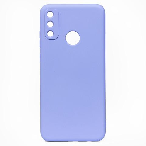 Чехол для Huawei Honor 9A  Софт тач мягкий эффект   микрофибра светло-фиолетовый