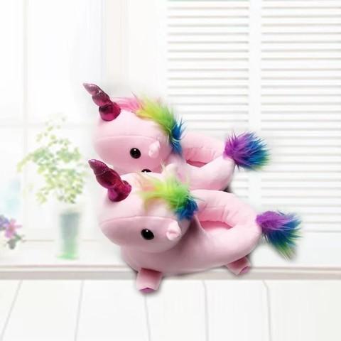 Тапочки Единорог розовые Kids