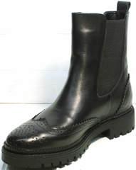 Ботинки женские натуральная кожа Jina 7113 Leather Black