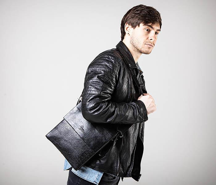 BAG559-1-2 Кожаная сумка планшет для города