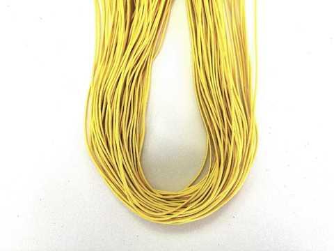 Шляпная резинка, толщина 1мм, цвет горчично-желтый. 1м.