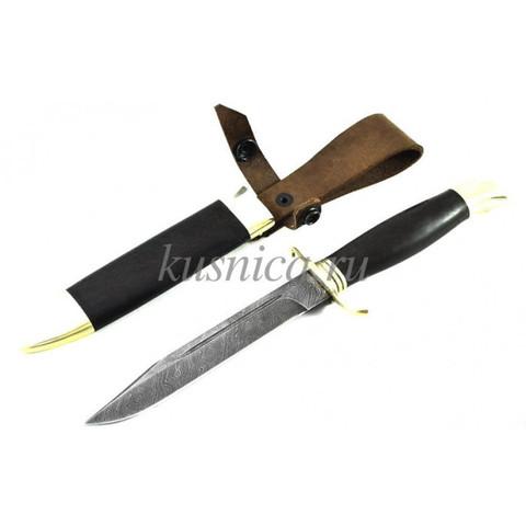 Нож финка Разведчик из дамасской стали, ИП Семин