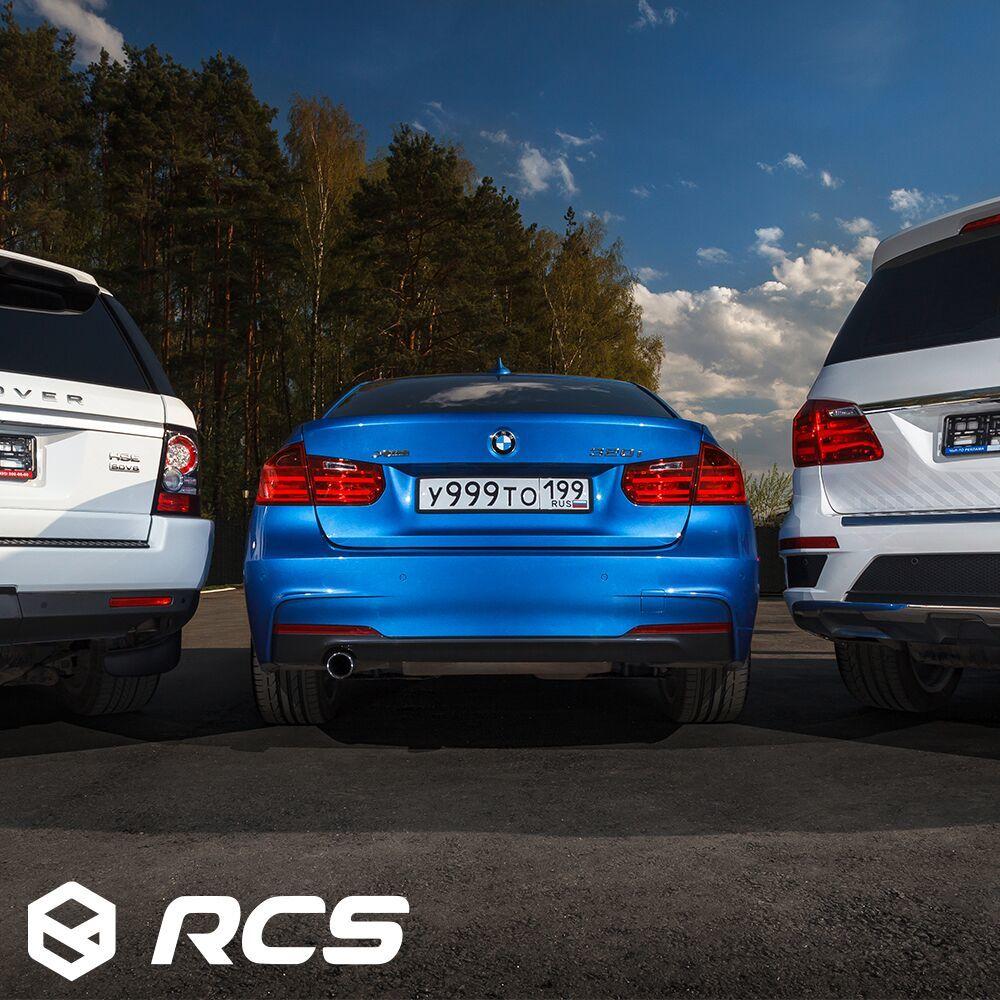Силиконовая рамка для автомобиля RCS - серая
