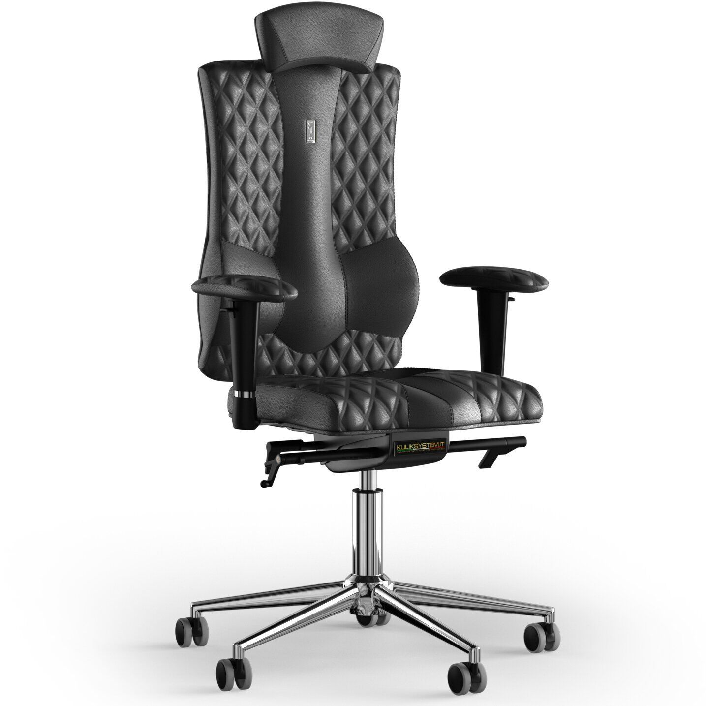 Кресло KULIK SYSTEM ELEGANCE Кожа с подголовником со строчкой