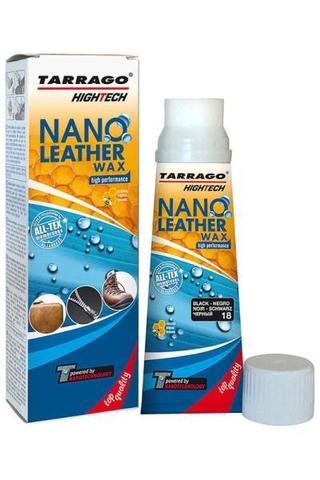 Крем тюбик с губкой NANO Leather WAX (черный)