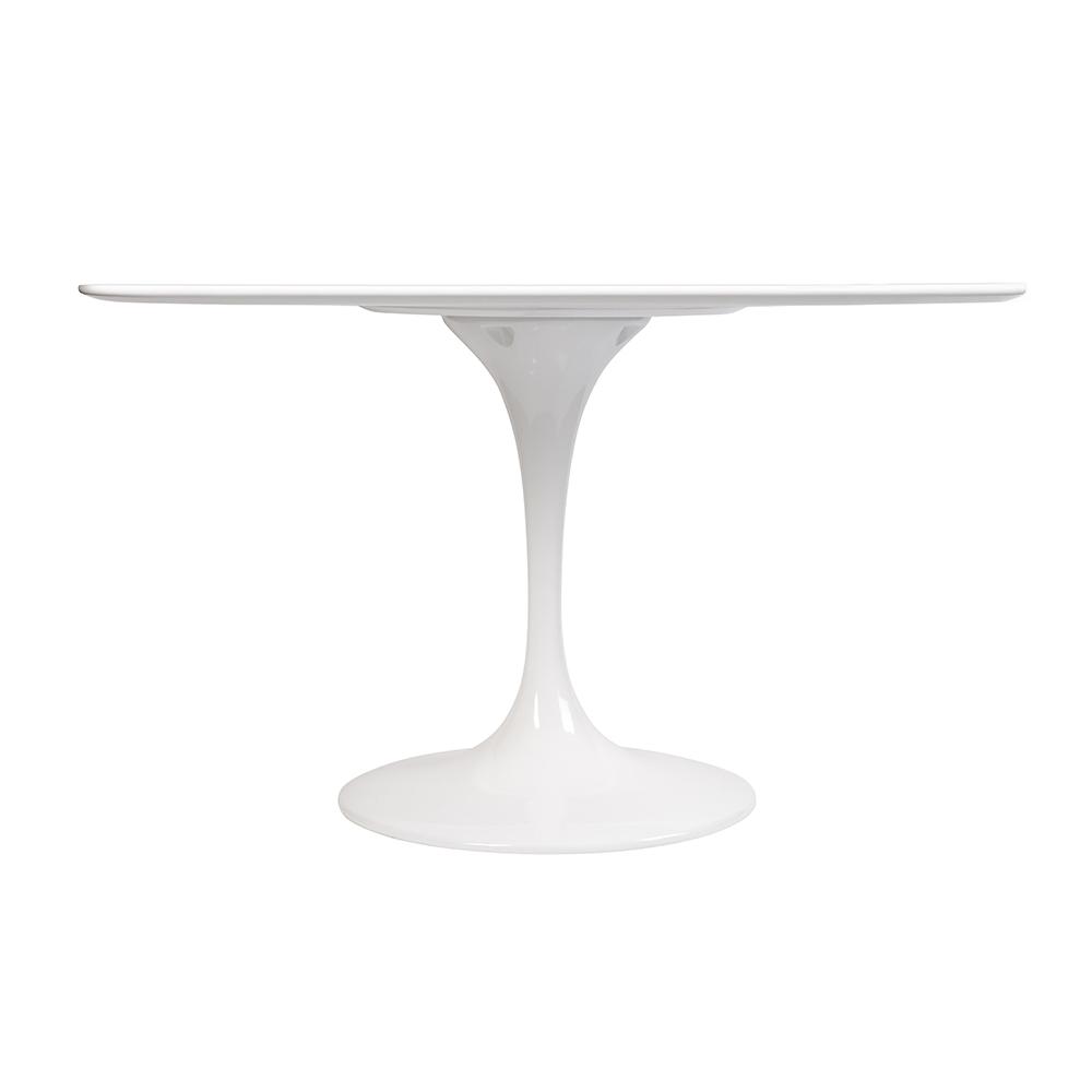 Стол Eero Saarinen Style Tulip Table MDF белый D120 глянцевый - вид 2