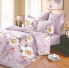 Сатиновое постельное бельё  1,5 спальное Сайлид  В-112