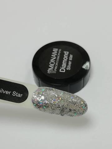 MONAMI Гель-лак Diamond Silver Star, 5 гр (платиновый)