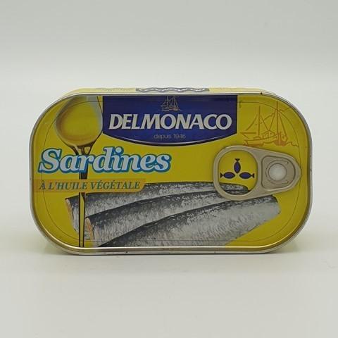 Сардины в растительном масле DELMONACO, 125 гр