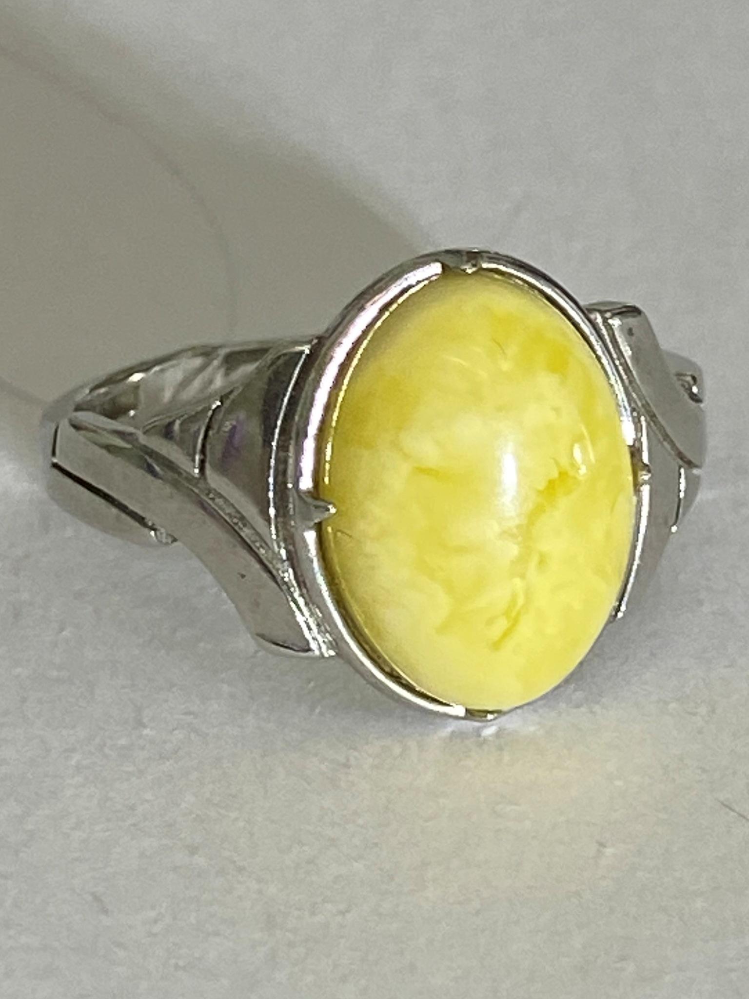 Янтарь 1171 (кольцо из серебра)