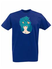 Футболка с принтом Знаки Зодиака, Рыбы (Гороскоп, horoscope) синяя 002