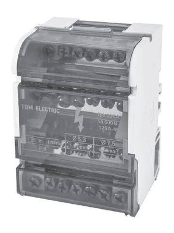 Модульный распределительный блок на DIN-рейку МРБ-100 4П 100А 4х7 групп TDM