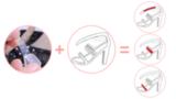 Силиконовые наклейки в туфли на ремешок, 1 упаковка