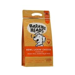 """Корм для собак с чувствительным пищеварением, BARKING HEADS Bowl Lickin' Chicken """"До последнего кусочка"""", с курицей и рисом"""