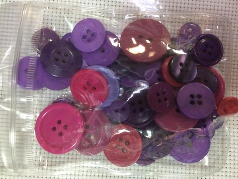 Набор  пуговиц в цветовой гамме - 75шт.