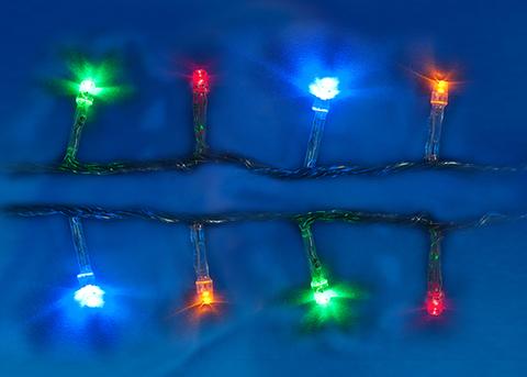 ULD-S0250-020/STA MULTI IP20  Гирлянда светодиодная, 2,5м. 20 светодиодов. Разноцветный свет. Провод прозрачный. ТМ Uniel