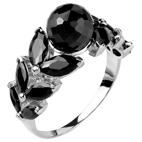 Кольцо из серебра с нано шпинелью Арт.1071ч-н-шп