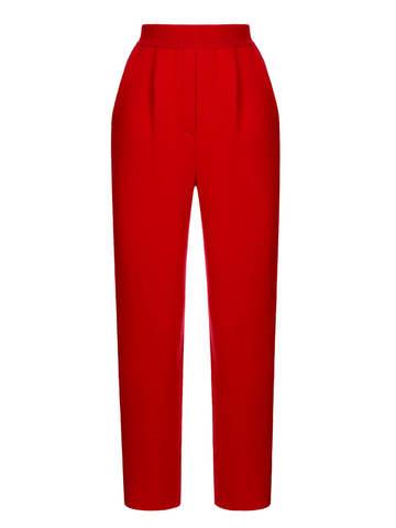 Женские брюки красного цвета из шерсти и кашемира - фото 1