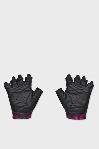 Женские розовые перчатки UA Graphic Training Gloves-PNK Under Armour