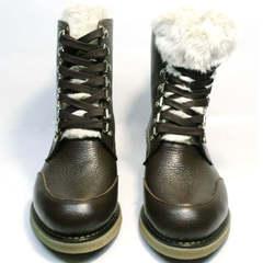 Женские ботинки зима Studio27 576c Broun.