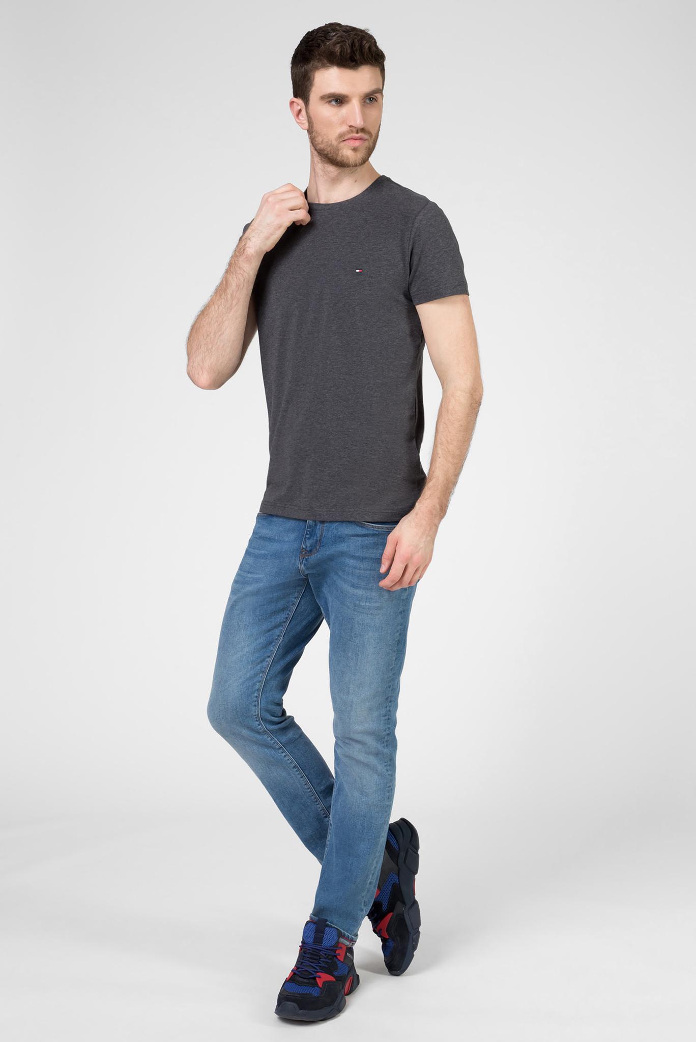 Мужская темно-серая футболка STRETCH SLIM FIT Tommy Hilfiger
