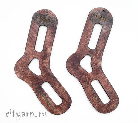 Блокаторы для носков, 2 шт., размер 39-40, цвет тёмно-коричневый с красным оттенком