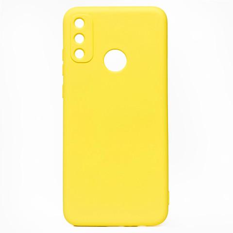 Чехол для Huawei Honor 9A Софт тач мягкий эффект   микрофибра желтый