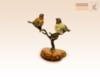 фигурка Птички на дереве на янтаре