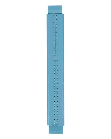Сменная ручка из гладкой кожи голубого цвета