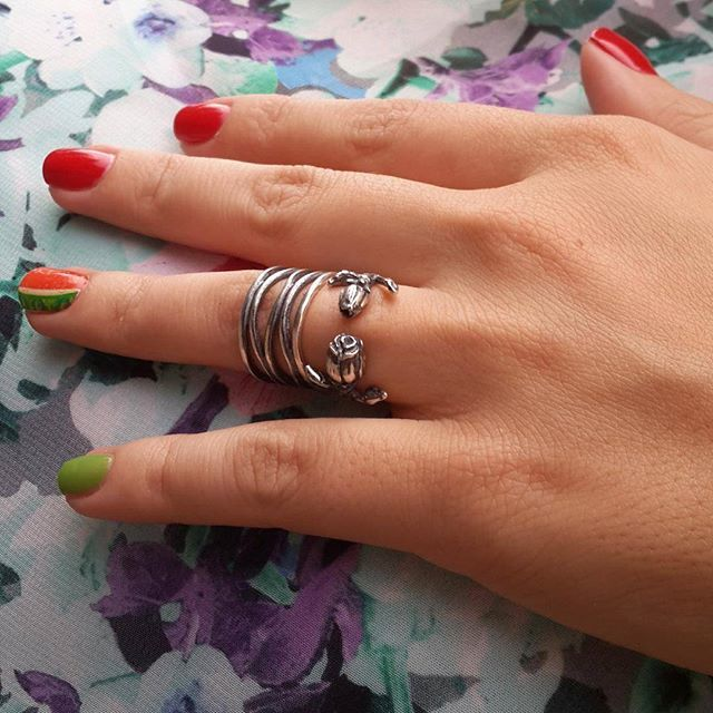 Spiderweb phalanx rings, sterling silver