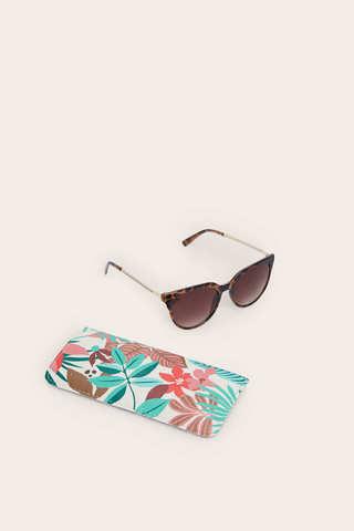 Сонцезахисні окуляри в оправі з принтом