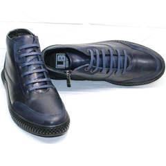 Синие мужские ботинки спортивного стиля Luciano Bellini BC2802 L Blue.