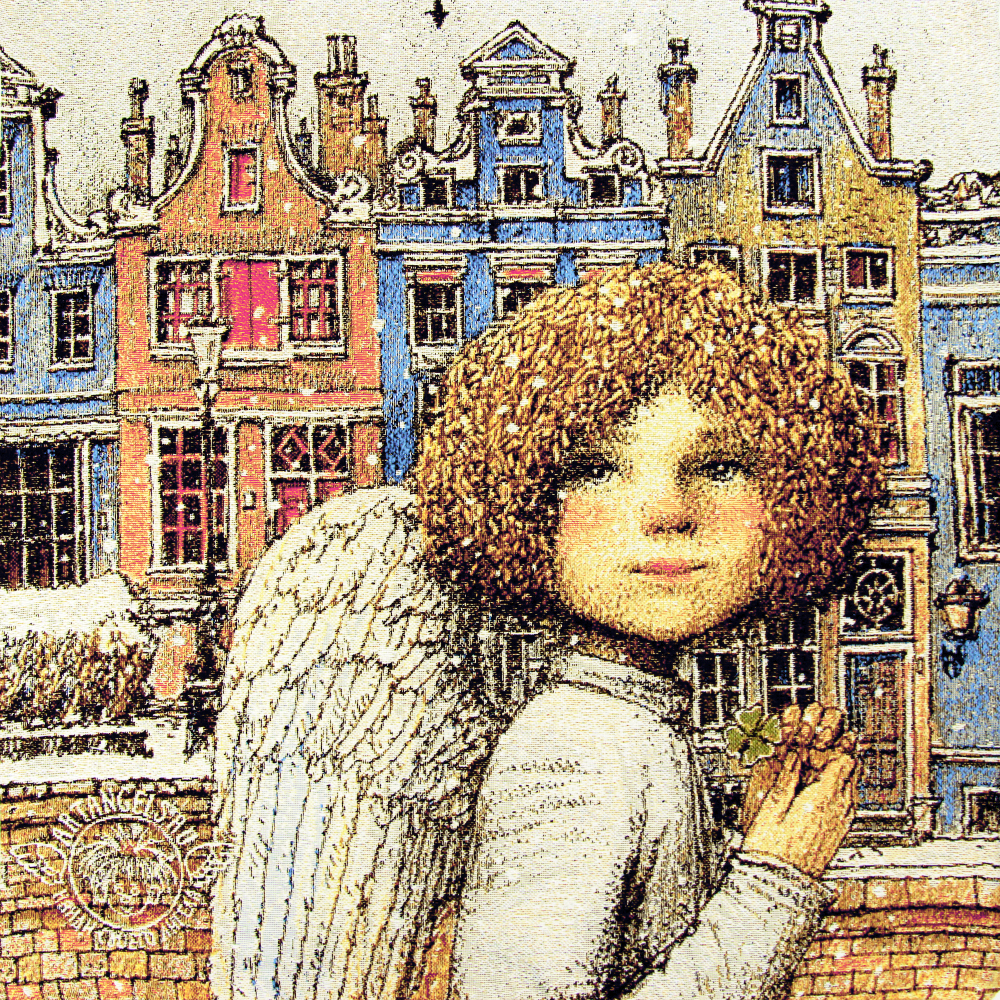 №3 «Ангел удачи» Наволочка гобеленовая 30х30 см