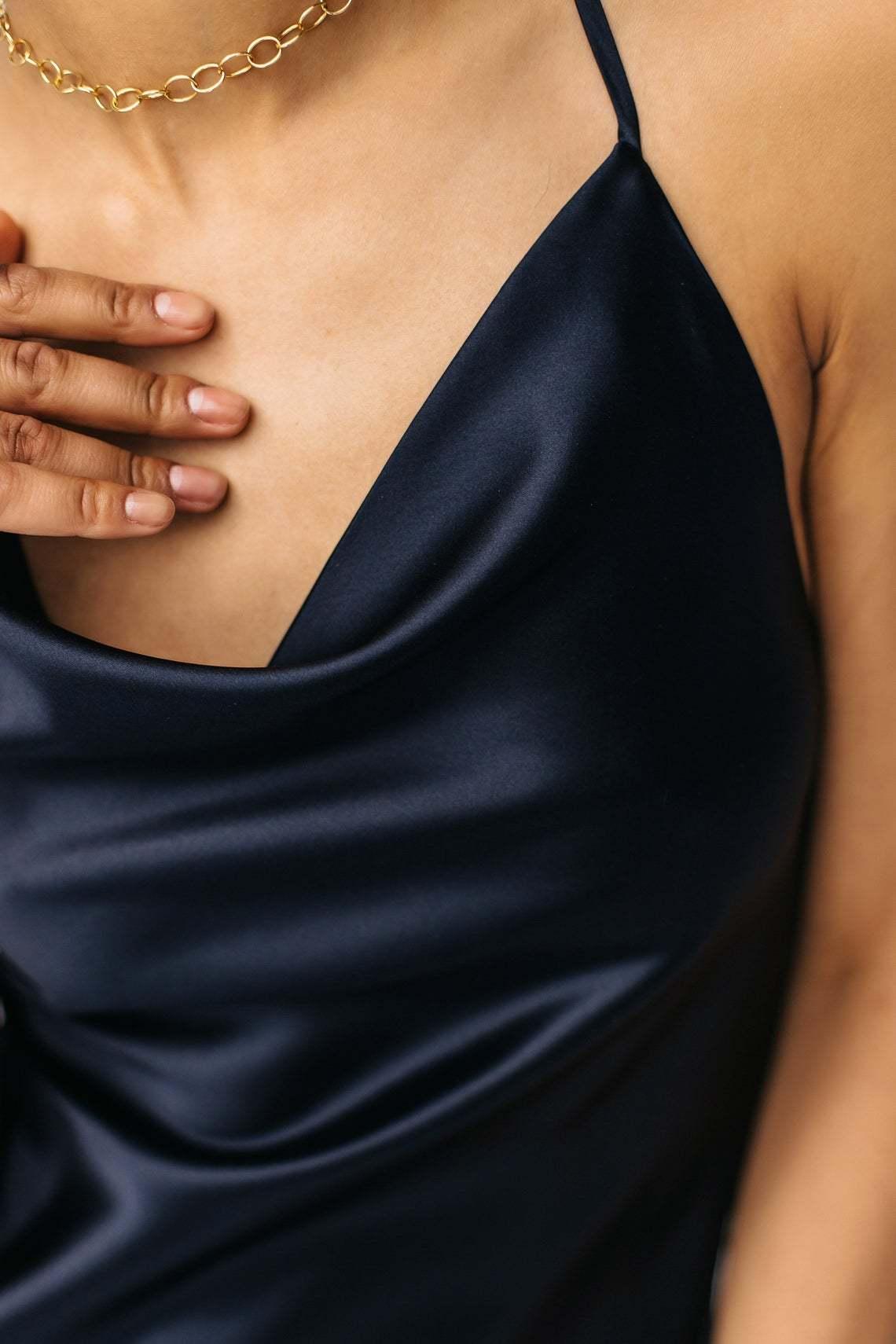 Шелковое платье мини синего цвета. ВЫБОР ЦВЕТА
