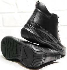 Женские осенние ботинки на толстой подошве Evromoda 535-2010 S.A. Black.