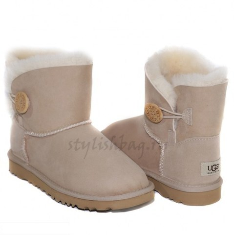 Женские угги UGG Mini Bailey Button Sand