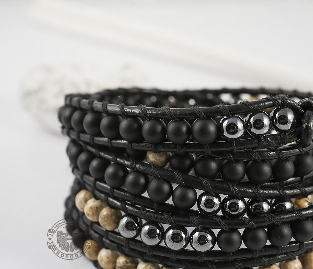 BS551 Мужской браслет «Чан Лу» из натуральных камней, ручная работа. «Boroda Design» фото 05